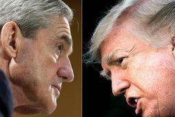 Robert Mueller og Donald Trump.