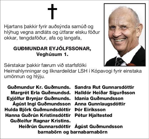 Guðmundar Eyjólfssonar,