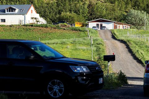 Æsustaðir, the victim's home.