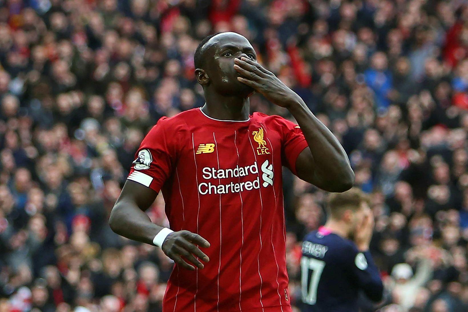 Sadio Mané er afar vinsæll hjá stuðningsmönnum Liverpool.