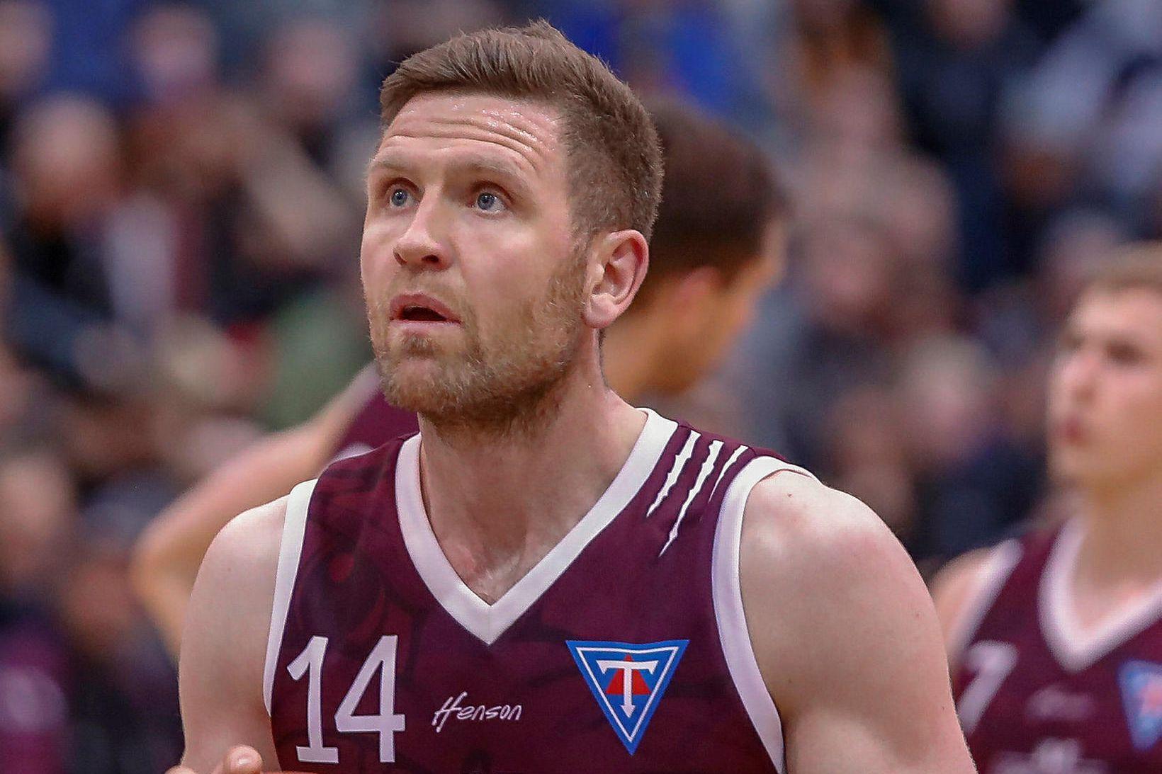 Helgi Rafn Viggósson í leiknum í kvöld.