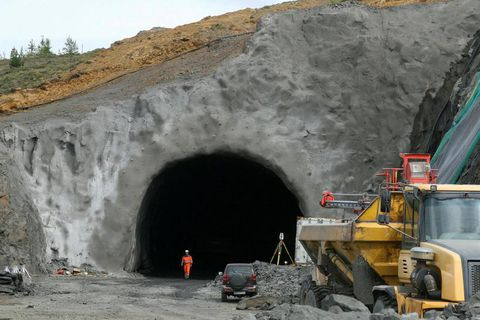 Vaðlaheiðargöng tunnel is only a few kilometres from Akureyri, North Iceland.