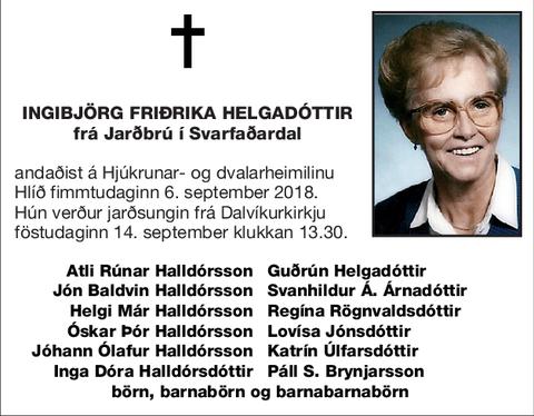 Ingibjörg Friðrika Helgadóttir