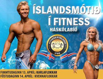 Ísak Máni Grant prýðir plakat Íslandsmótsins í fitness sem fram fer um páskana.