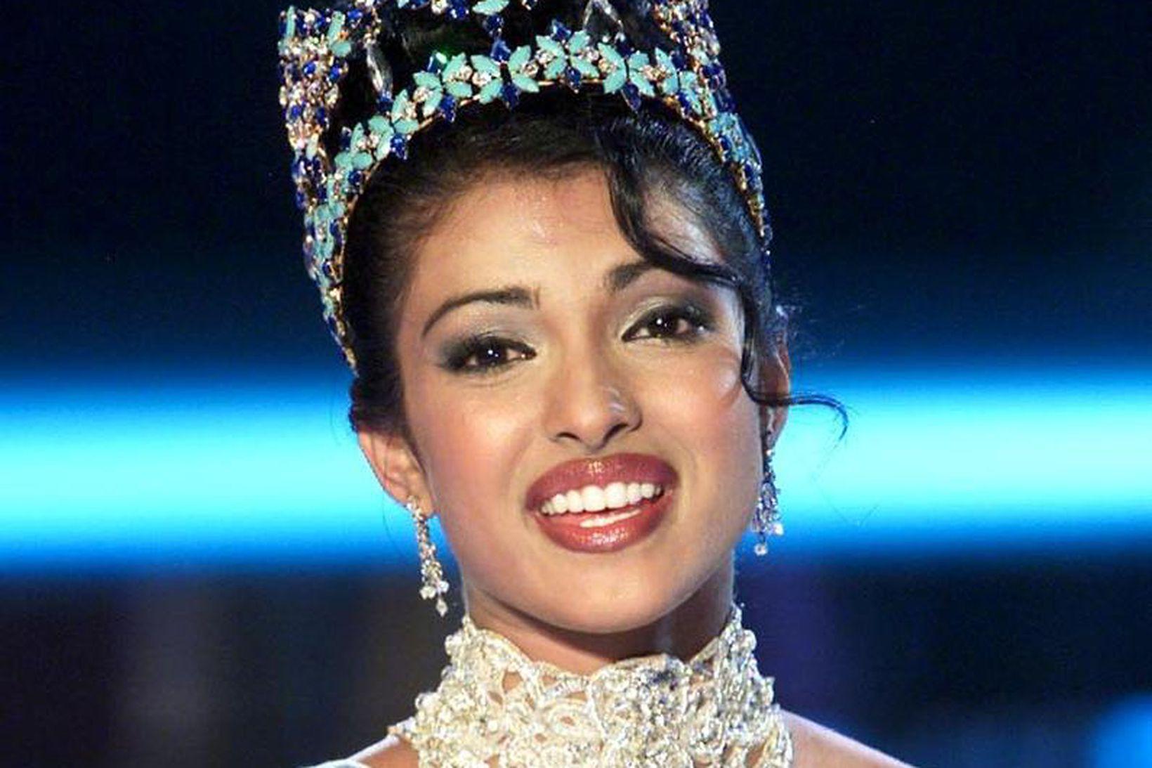 Priyanka Chopra var 18 ára þegar hún var valin sú …