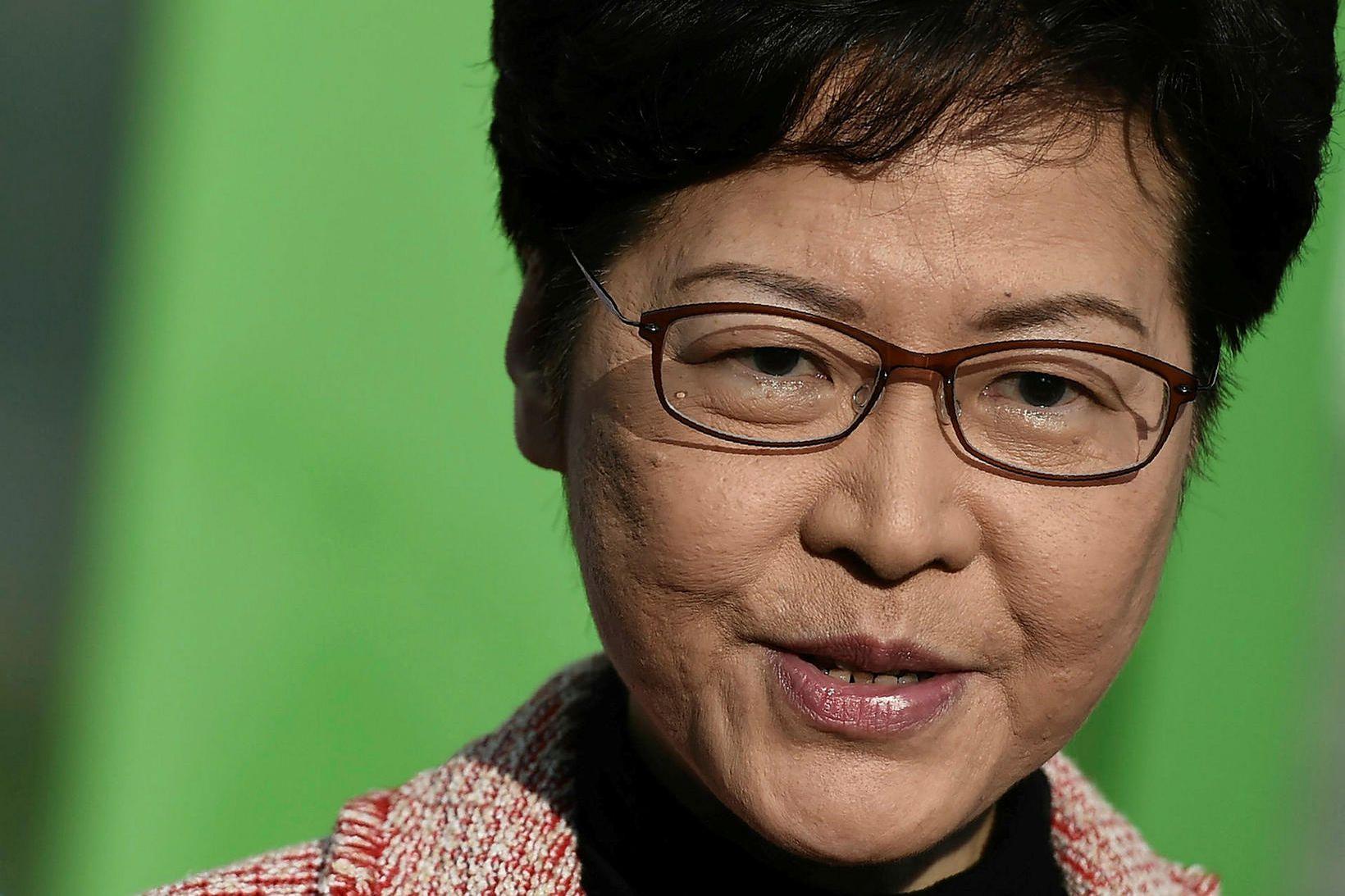 Carrie Lam, leiðtogi heimastjórnar Hong Kong.