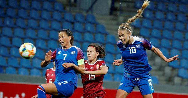 Ísland vann Ungverjaland í fyrsta leiknum í undankeppni EM.