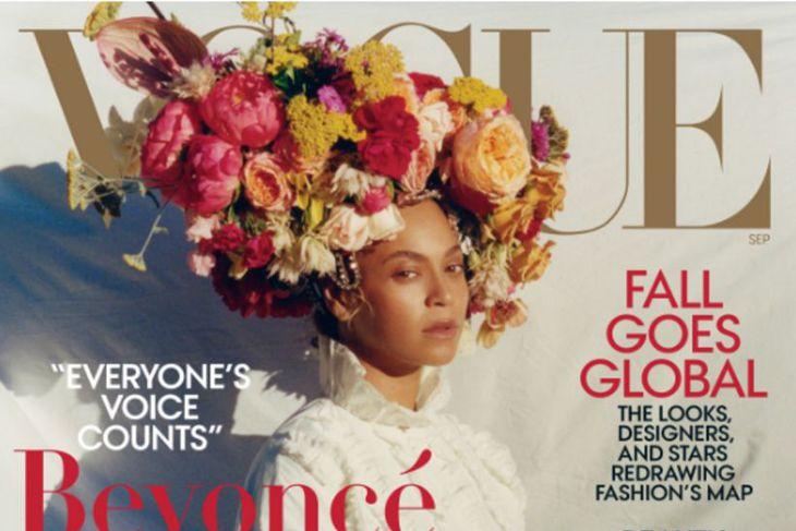Beyoncé á forsíðunni.