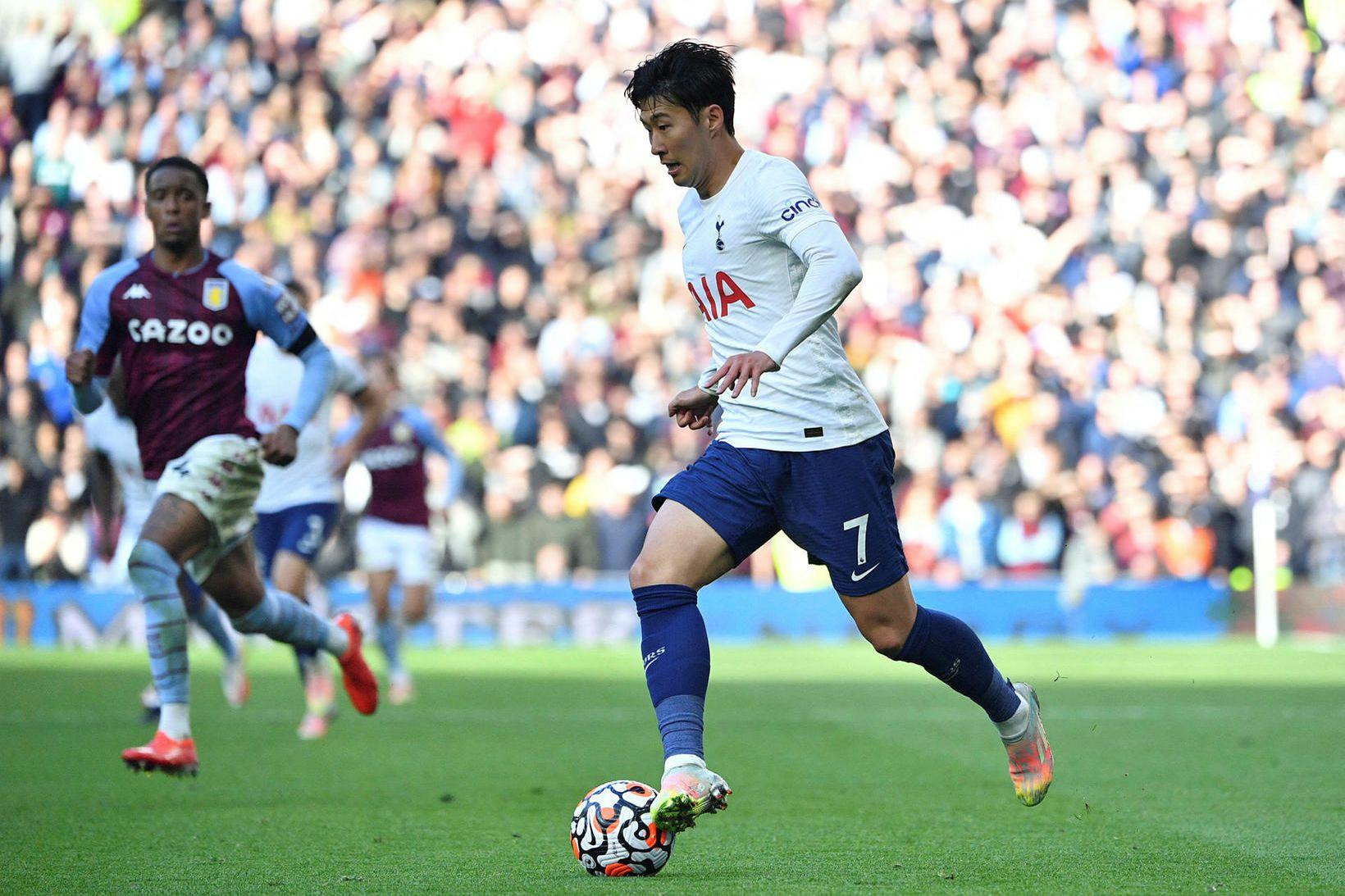 Son Heung-Min lagði upp bæði mörk Tottenham í dag.