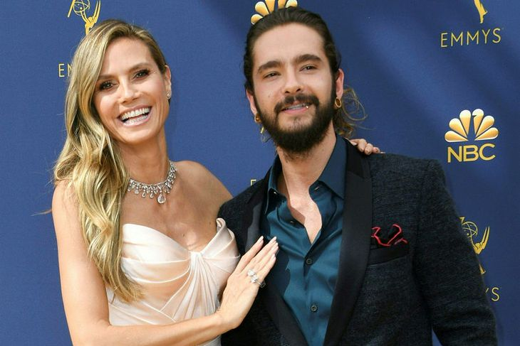 Heidi Klum og Tom Kaulitz síðasta haust.
