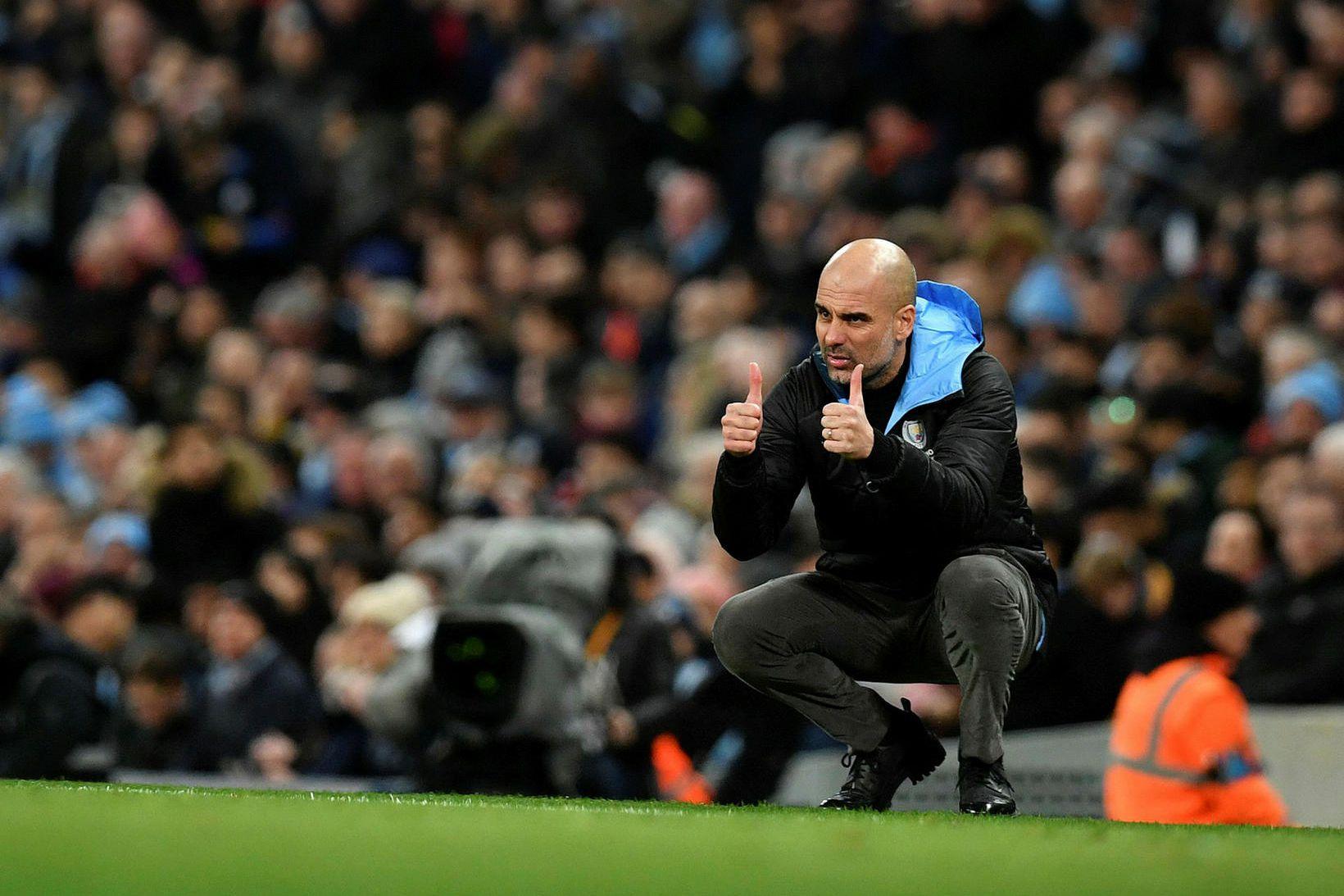 Pep Guardiola og lærisveinar hans í Manchester City fá West …