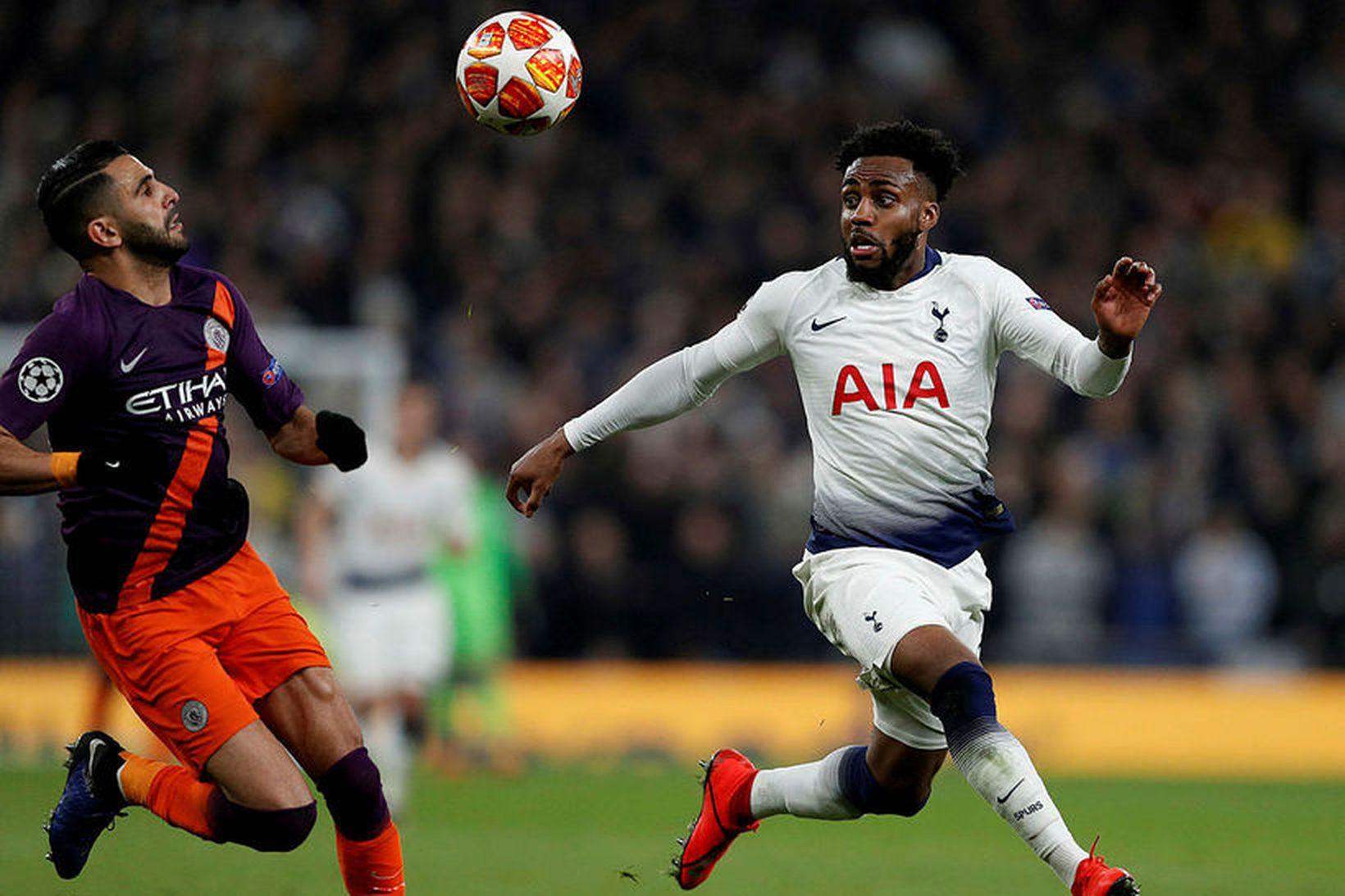 Danny Rose í leik Tottenham og Manchester City í átta …
