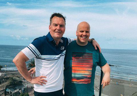 Logi Bermann og Siggi Gunnars eru nú staddir á Tenerife en þaðan verða þeir í beinni útsendingu á K100.