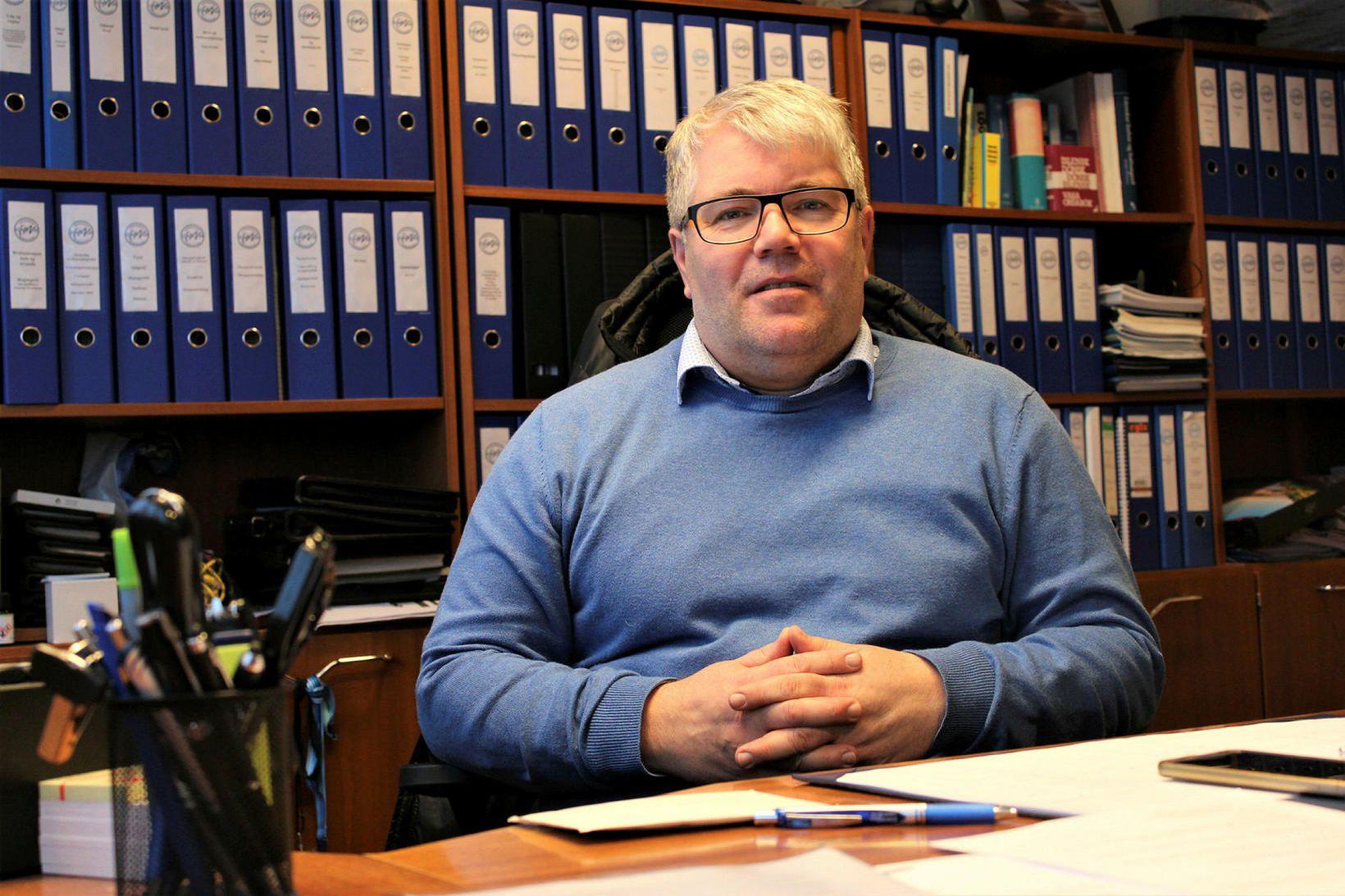Pétur Ólafsson, hafnarstjóri Hafnasamlags Norðurlands, segir samdrátt í tekjum vegna …