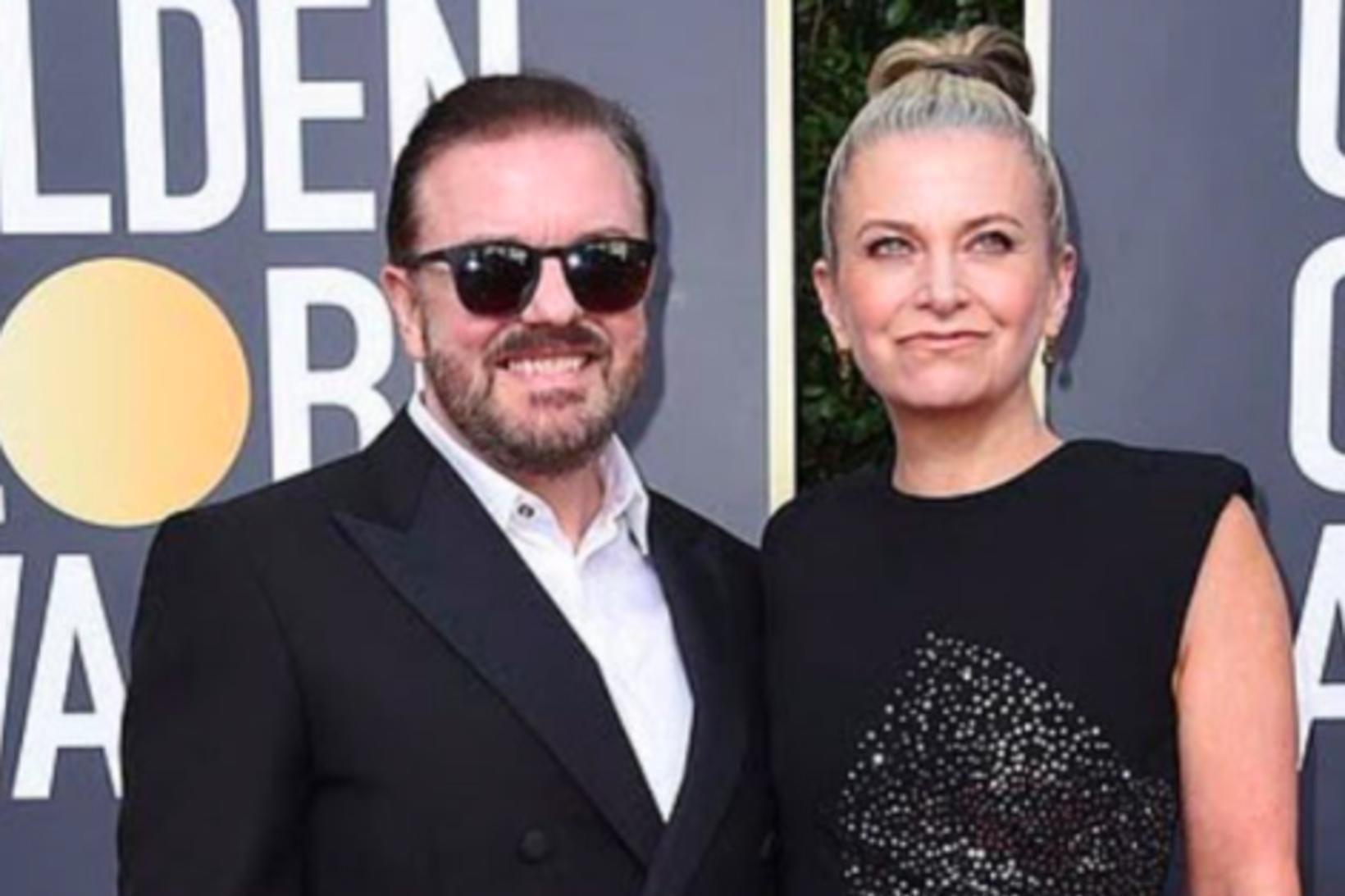 Ricky Gervais og Jane Fallon.