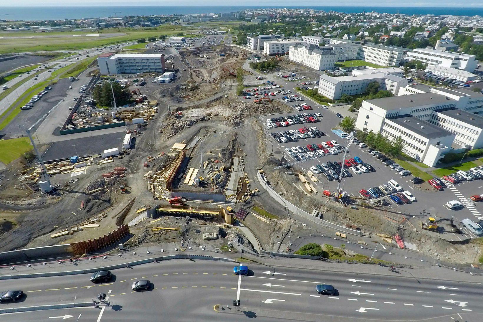 Unnið er að byggingu nýs Landspítala við Hringbraut.