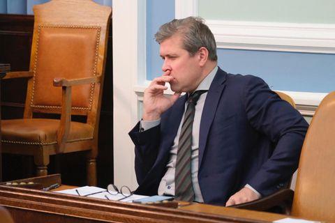 Bjarni Benediktsson, fjármála- og efnahagsráðherra, á Alþingi í dag.