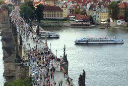 Frá Prag, höfuðborg Tékklands.