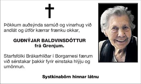 Guðnýjar Baldvinsdóttur