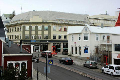 Miðbær Akureyrrar.