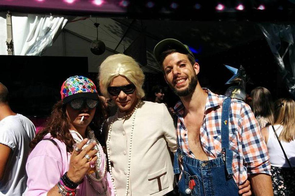 Jon, Hans og Stian á Oslo Pride-hátíðinni 1. júlí 2017. ...