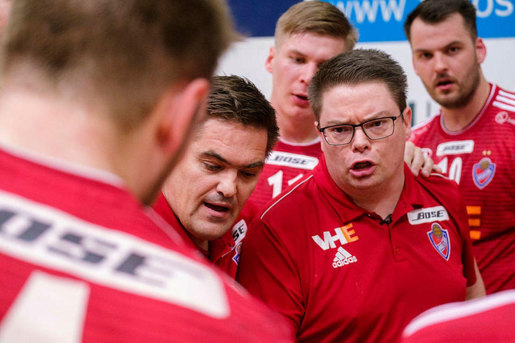 Aron Kristjánsson, Gunnar Magnússon, Daníel Þór Ingason, Heimir Óli Heimisson.