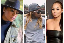 Þær Nivea og Lauren London eiga börn með Lil Wayne með tæplega tveggja mánaða millibili.