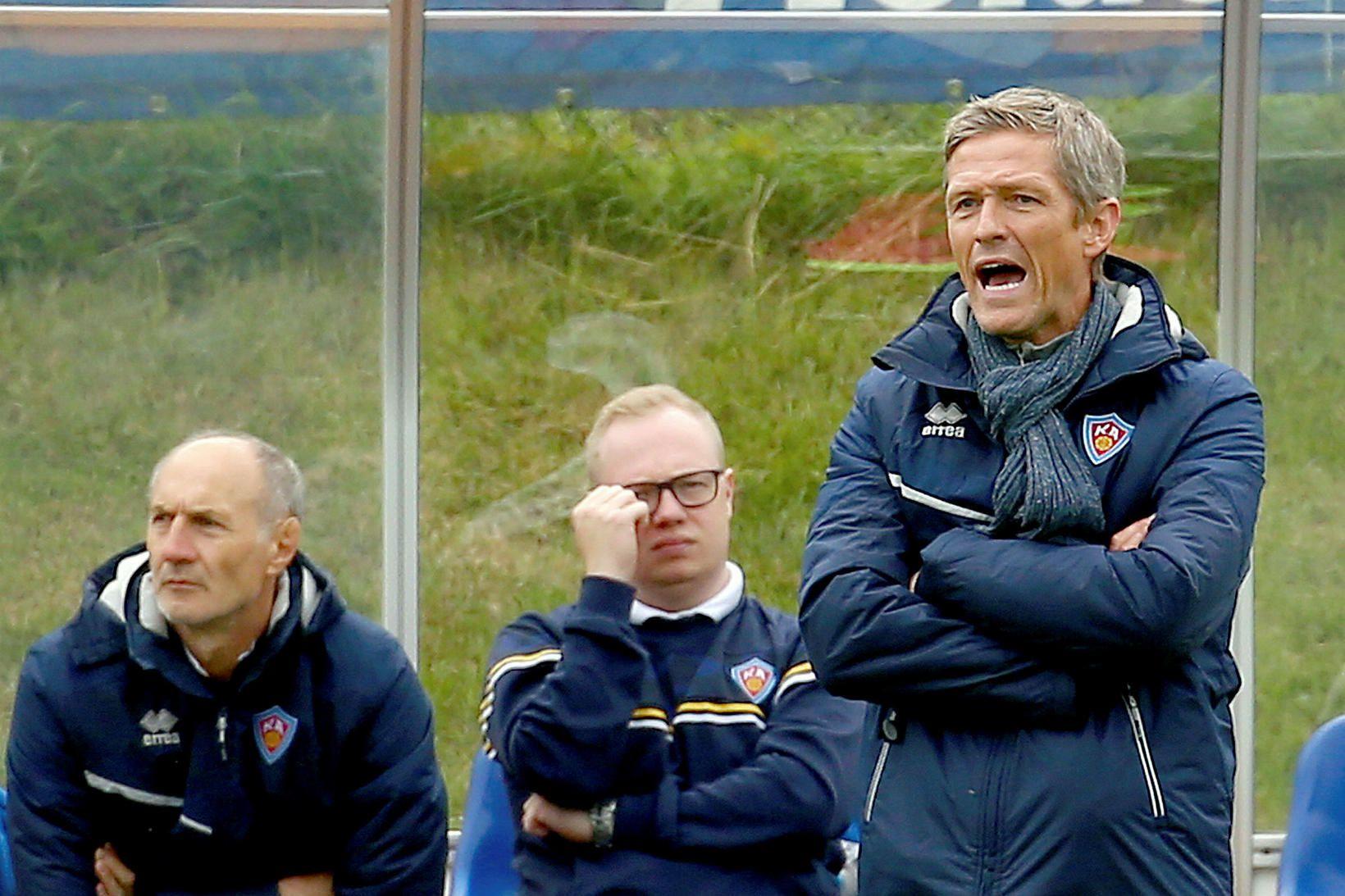 Arnar Grétarsson tók við liði KA um miðjan júlí.