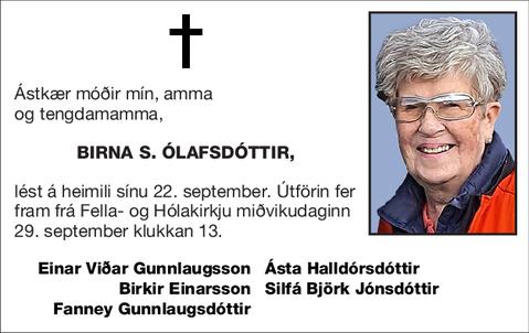 Birna S. Ólafsdóttir,