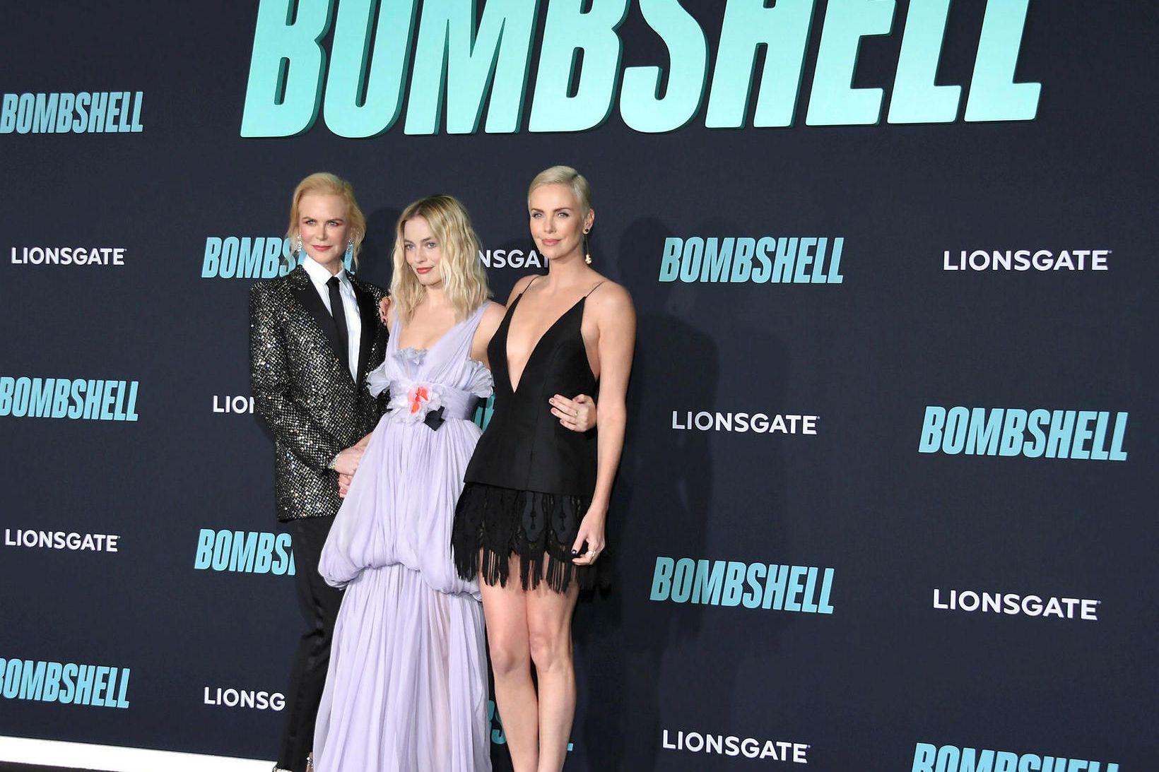 Nicole Kidman, Margot Robbie og Charlize Theron.