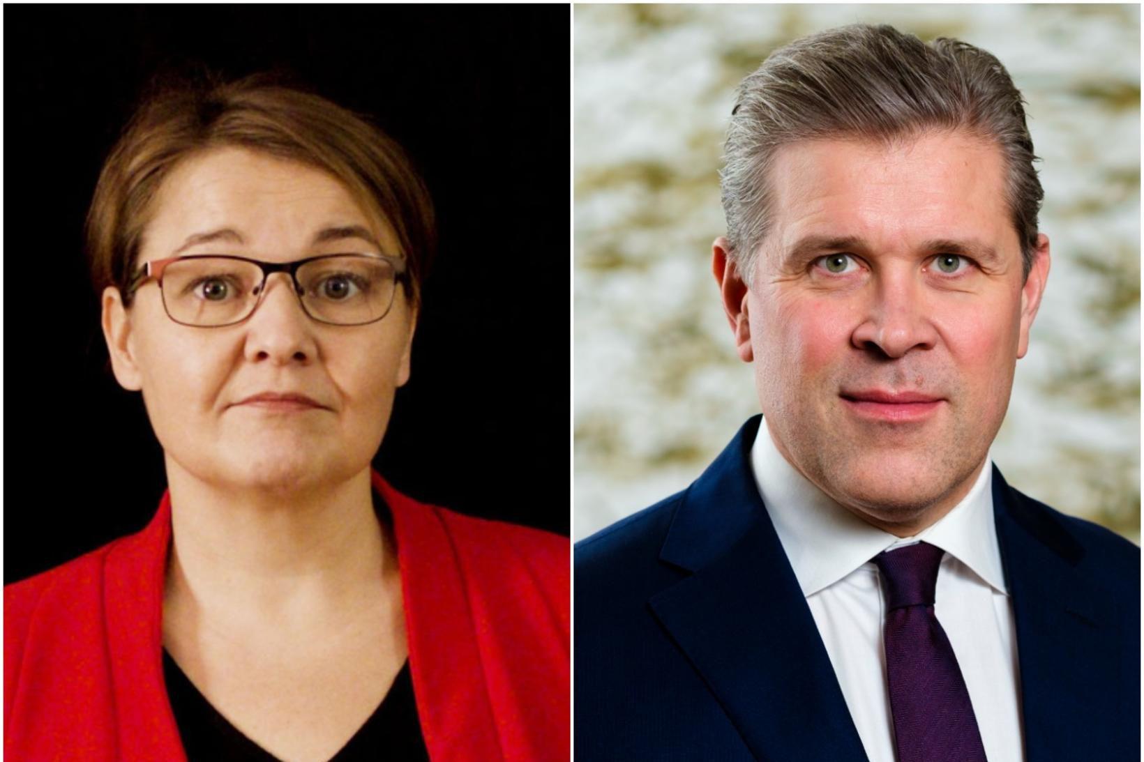Drífa Snædal og Bjarni Benediktsson.