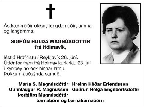 Sigrún Hulda Magnúsdóttir