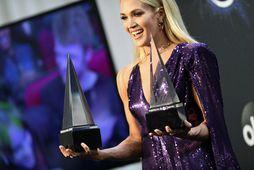 Carrie Underwood á nú tvö börn.