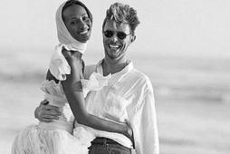 Iman og David Bowie