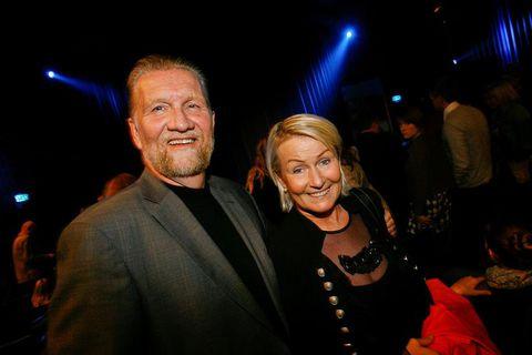 Gunnar Þorsteinsson og Jónína Benediktsdóttir voru gift en þessi mynd var tekin 2016.
