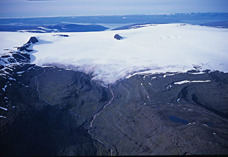 Drangajökull glacier in September, 2001.
