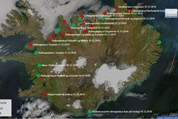 Eins og sést á kortinu er staðan verst á Norðurlandi.