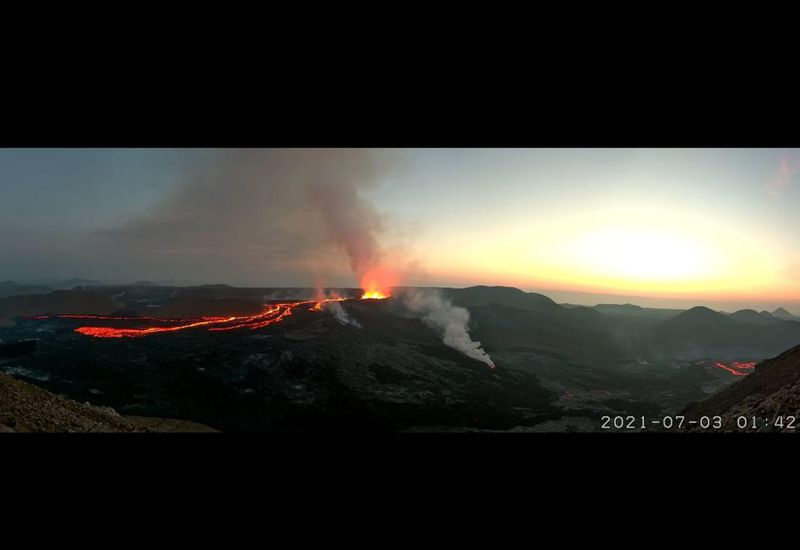 People from all over the world can watch the eruption through the eyes of webcams.