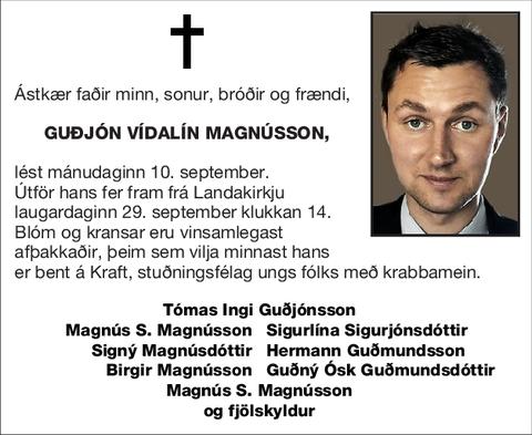 Guðjón Vídalín Magnússon,
