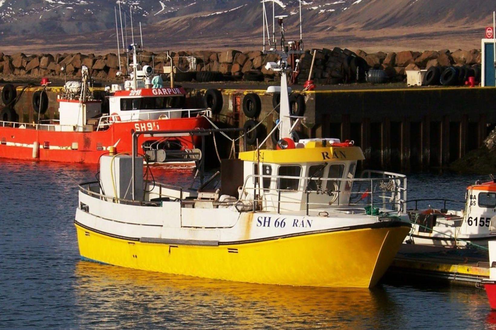 Hugrún DA, áður Rán SH, var aflahæsti báturinn á grásleppuvertíðinni.