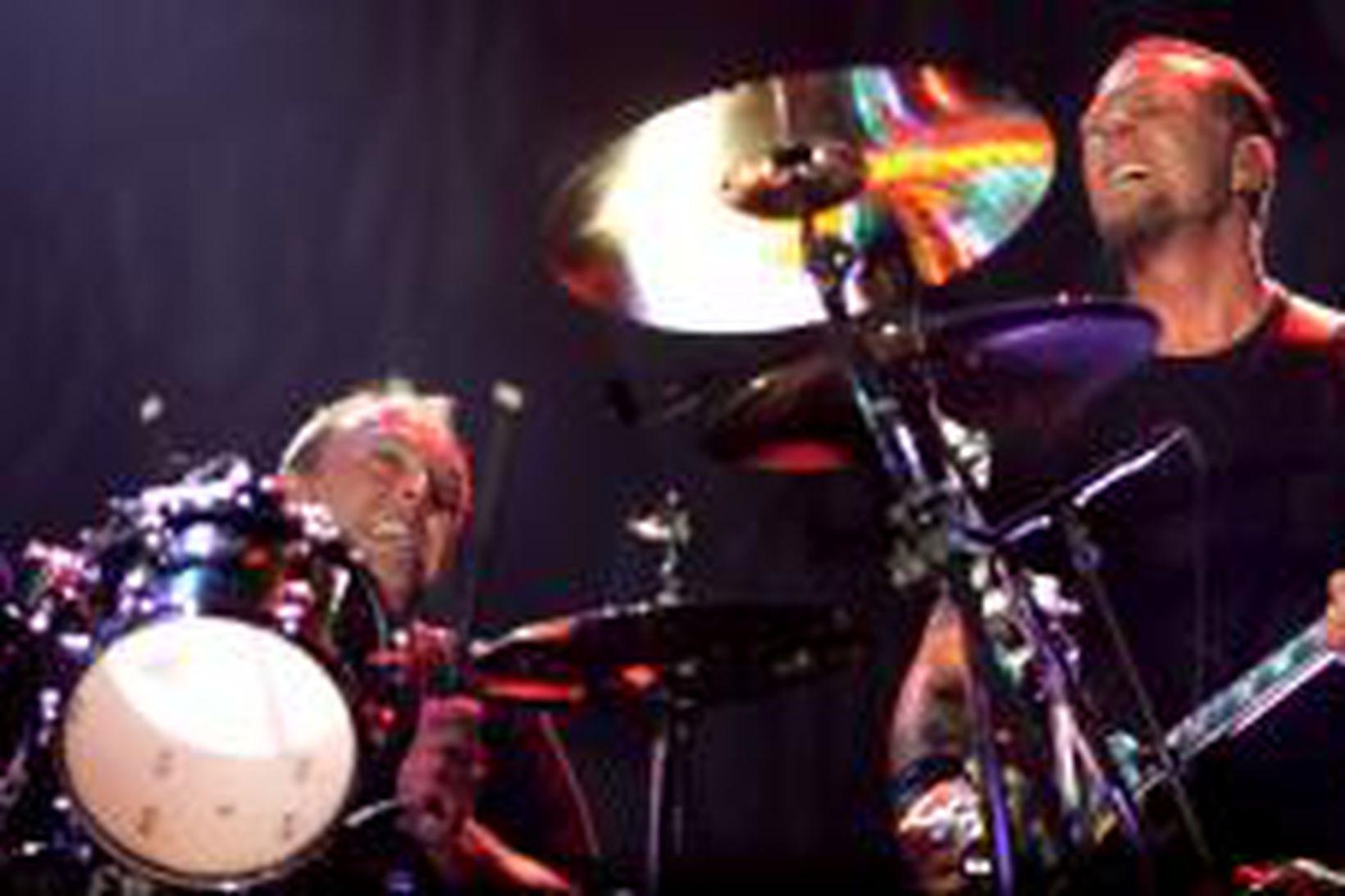 Metallica á sviðinu í Egilshöll.