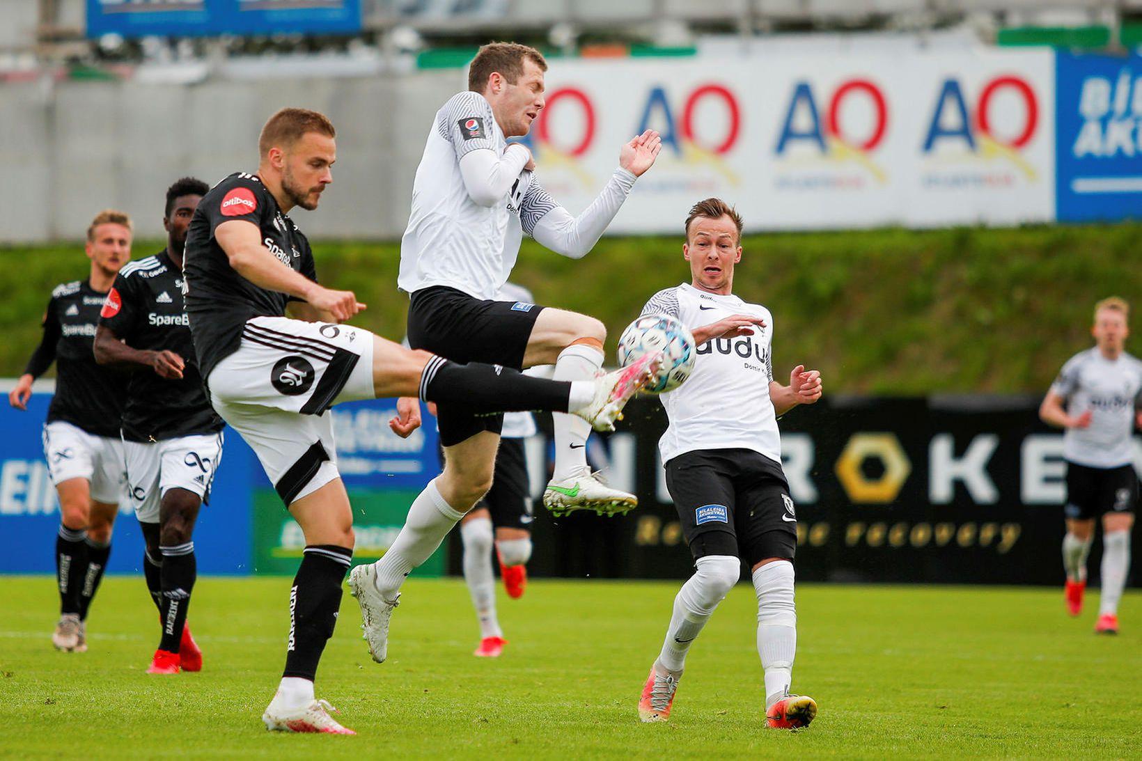 Hólmar Örn Eyjólfsson miðvörður Rosenborg, Björn Daníel Sverrisson og Steven …