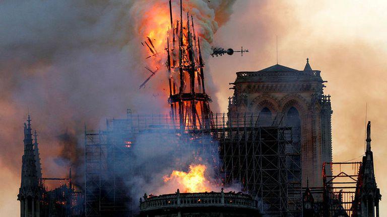 Notre Dame í ljósum logum