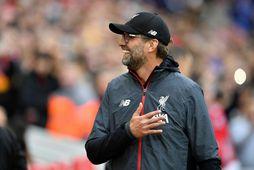 Jürgen Klopp hefur stýrt Liverpool til sigurs í öllum átta leikjum sínum í ensku úrvalsdeildinni ...