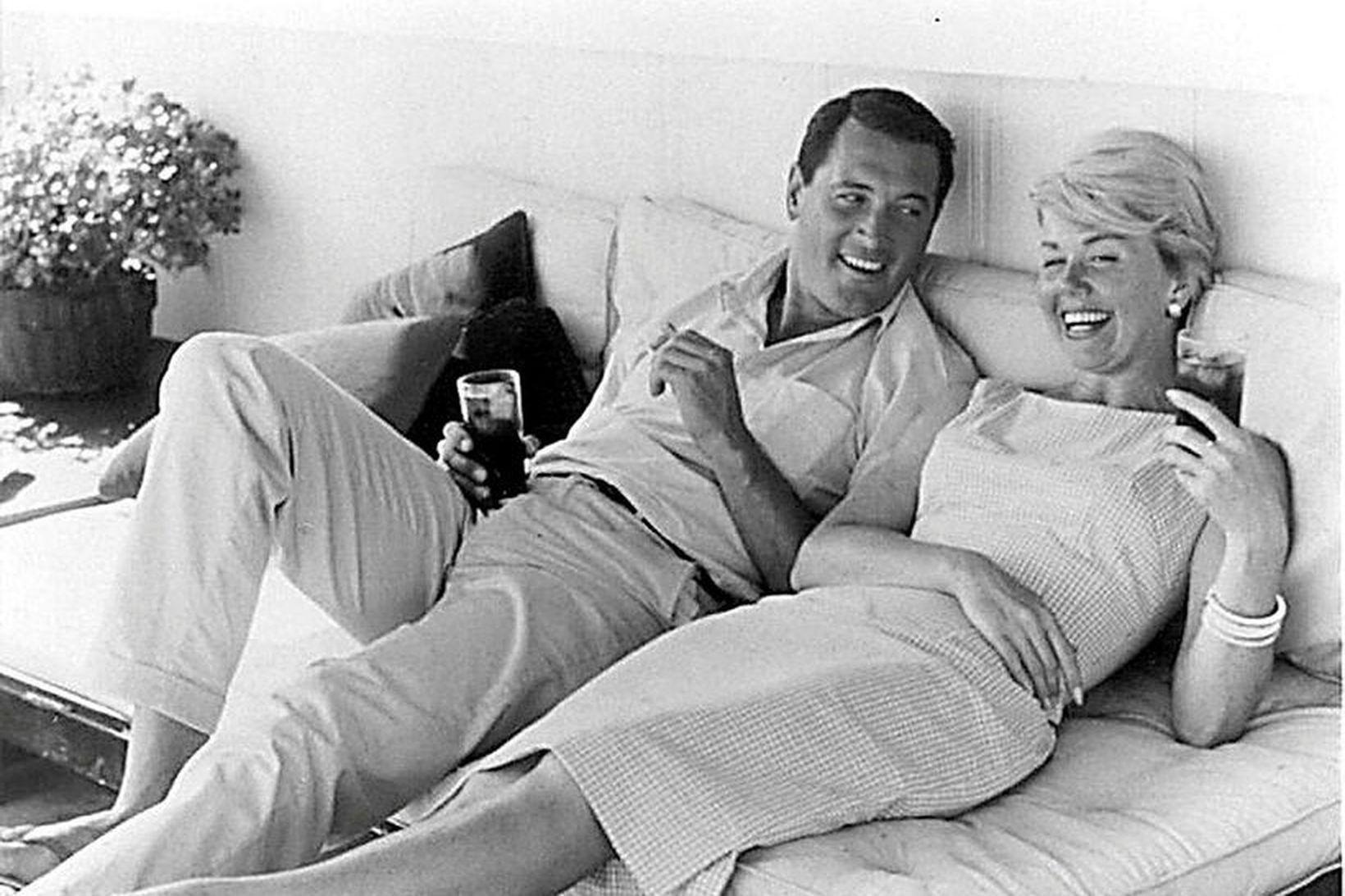 Doris Day með kærum vini sínum, Rock Hudson, á hátindi …