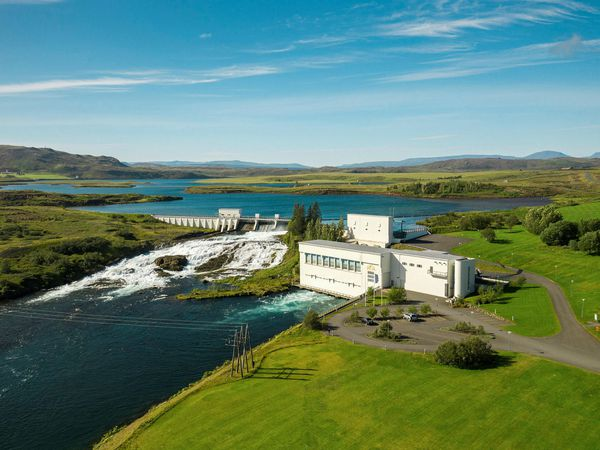 Ljósafoss hydroelectric power plant.