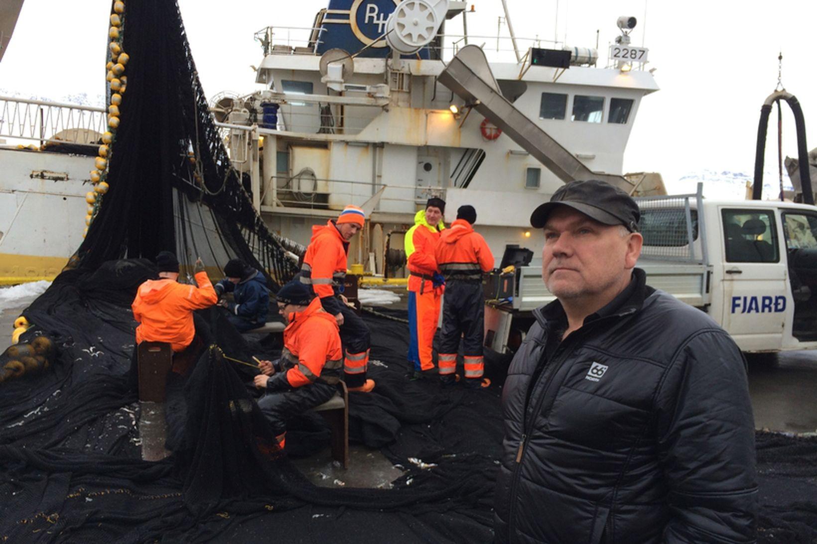 Gísli Runólfsson, skipstjóri á Bjarna Ólafssyni AK, segir að aflinn …