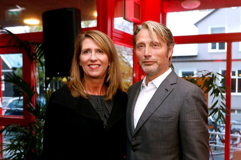 Director of RIFF Hrönn Marinósdóttir with actor Mads Mikkelsen who received an honorary award.