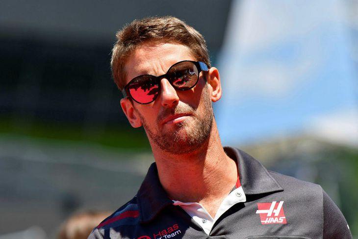 Sólin skein á Romain Grosjean og Haas-liððið í Spielberg í Austurríki.