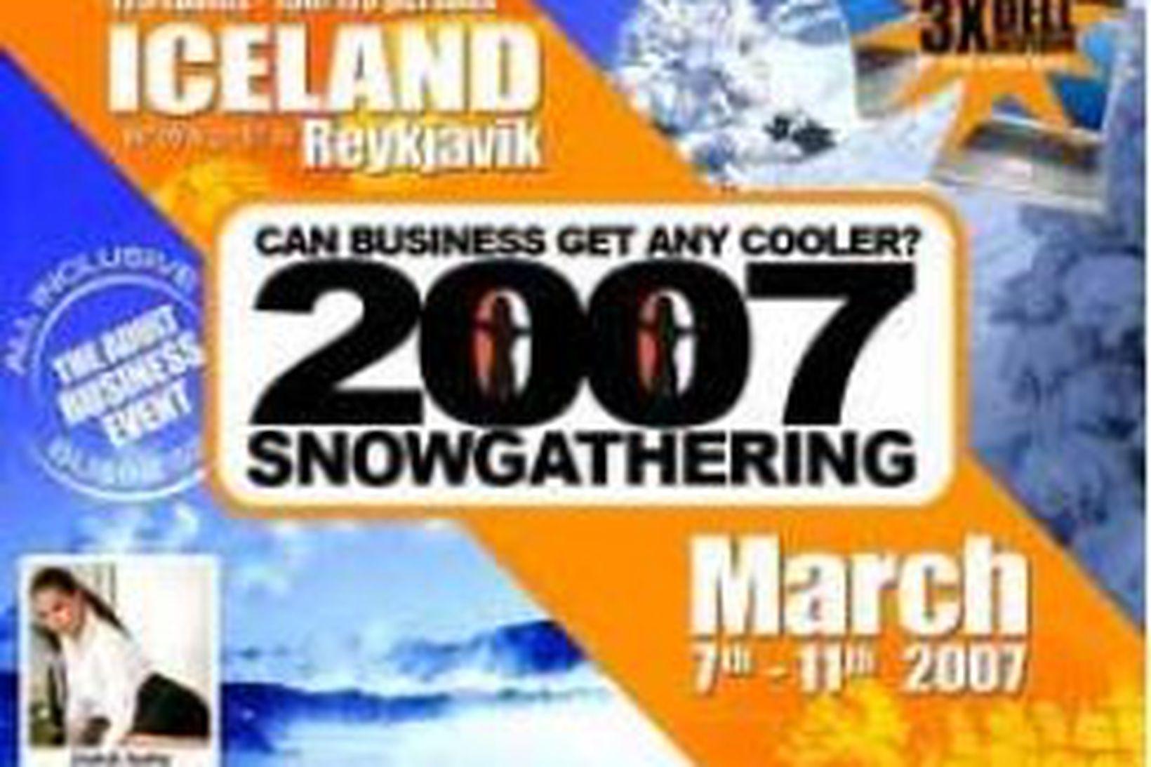 Auglýsingaspjald fyrir SnowGathering 2007.